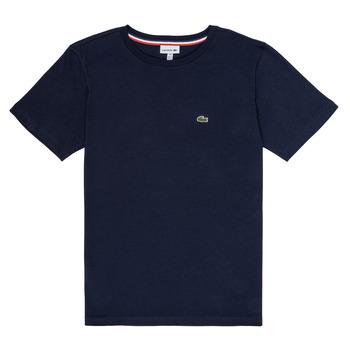 Oblečenie Chlapci Tričká s krátkym rukávom Lacoste JOSEPHE Námornícka modrá