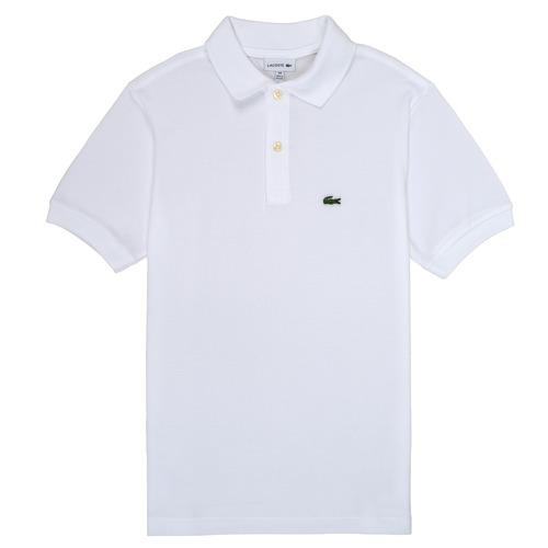 Oblečenie Chlapci Polokošele s krátkym rukávom Lacoste MARISE Biela