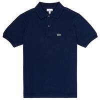 Oblečenie Chlapci Polokošele s krátkym rukávom Lacoste LOLLA Námornícka modrá