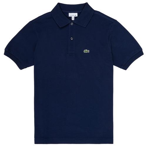 Oblečenie Chlapci Polokošele s krátkym rukávom Lacoste CYRINNE Námornícka modrá