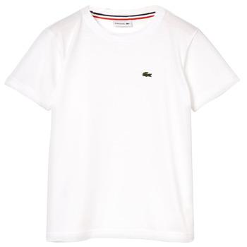 Oblečenie Chlapci Tričká s krátkym rukávom Lacoste ALIZE Biela