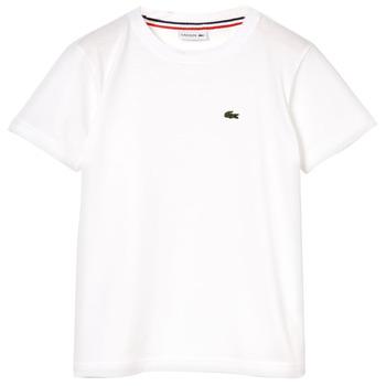 Oblečenie Chlapci Tričká s krátkym rukávom Lacoste APAULINE Biela