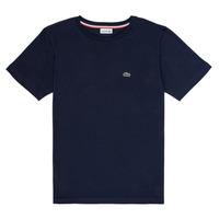 Oblečenie Chlapci Tričká s krátkym rukávom Lacoste KETLEEN Námornícka modrá