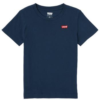 Oblečenie Chlapci Tričká s krátkym rukávom Levi's BATWING CHEST HIT Námornícka modrá
