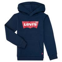 Oblečenie Chlapci Mikiny Levi's BATWING SCREENPRINT HOODIE Námornícka modrá