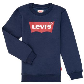 Oblečenie Chlapci Mikiny Levi's BATWING CREWNECK Námornícka modrá