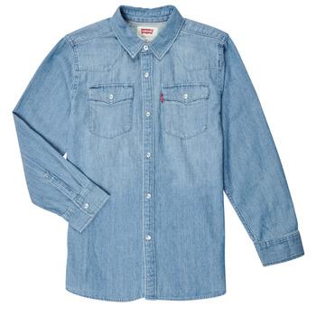 Oblečenie Chlapci Košele s dlhým rukávom Levi's BARSTOW WESTERN SHIRT Modrá