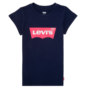 Oblečenie Dievčatá Tričká s krátkym rukávom Levi's BATWING TEE Námornícka modrá