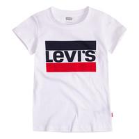 Oblečenie Dievčatá Tričká s krátkym rukávom Levi's SPORTSWEAR LOGO TEE Biela