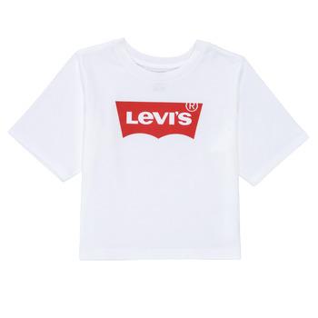 Oblečenie Dievčatá Tričká s krátkym rukávom Levi's LIGHT BRIGHT HIGH RISE TOP Biela