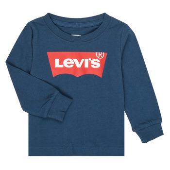 Oblečenie Chlapci Tričká s dlhým rukávom Levi's BATWING TEE LS Námornícka modrá