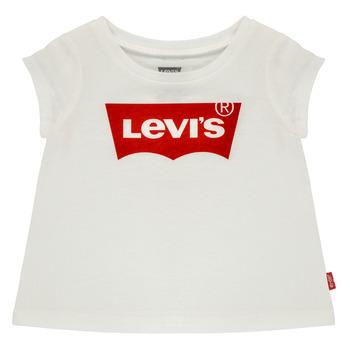 Oblečenie Dievčatá Tričká s krátkym rukávom Levi's BATWING TEE Biela