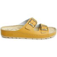 Topánky Ženy Sandále Batz Dámske kožené hnedé šľapky ZENNA ťavia