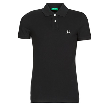 Oblečenie Muži Polokošele s krátkym rukávom Benetton MARNELLI Čierna