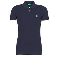 Oblečenie Muži Polokošele s krátkym rukávom Benetton  Námornícka modrá