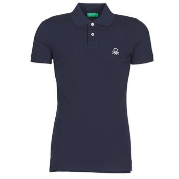 Oblečenie Muži Polokošele s krátkym rukávom Benetton MARAKY Námornícka modrá