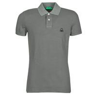 Oblečenie Muži Polokošele s krátkym rukávom Benetton MARADI Šedá