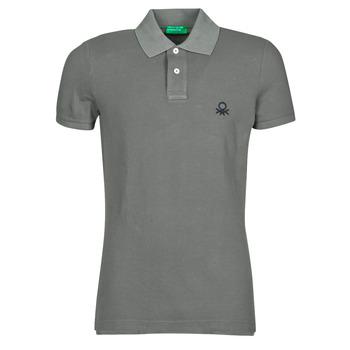Oblečenie Muži Polokošele s krátkym rukávom Benetton  Šedá