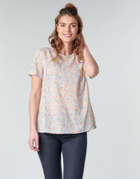 Oblečenie Ženy Blúzky Benetton DANIEL Biela / Viacfarebná