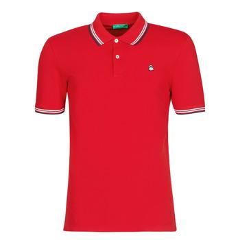 Oblečenie Muži Polokošele s krátkym rukávom Benetton GUERY Červená