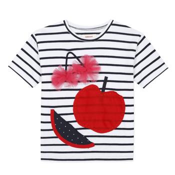 Oblečenie Dievčatá Tričká s krátkym rukávom Catimini KUSY Biela