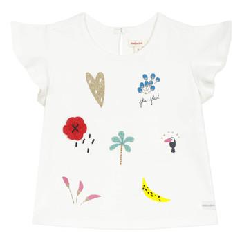 Oblečenie Dievčatá Tričká s krátkym rukávom Catimini NADEGE Biela