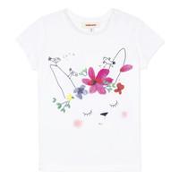 Oblečenie Dievčatá Tričká s krátkym rukávom Catimini MAE Biela