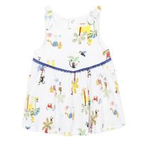 Oblečenie Dievčatá Krátke šaty Catimini BIXENTE Biela