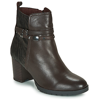 Topánky Ženy Čižmičky Caprice LUNITONE Hnedá