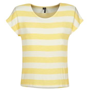 Oblečenie Ženy Tričká s krátkym rukávom Vero Moda  Žltá / Biela