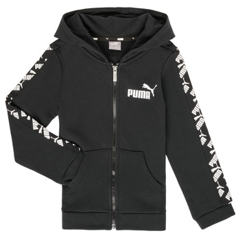 Oblečenie Chlapci Mikiny Puma AMPLI HOOD JKT Čierna