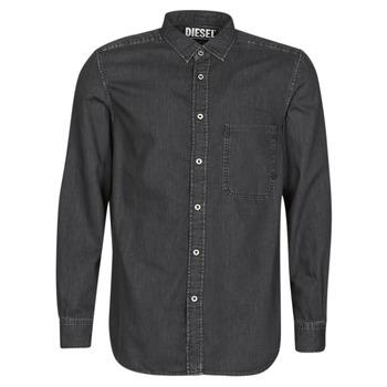 Oblečenie Muži Košele s dlhým rukávom Diesel D-BER-P Čierna