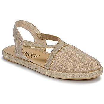 Topánky Ženy Sandále Casual Attitude MISSA Béžová / Zlatá