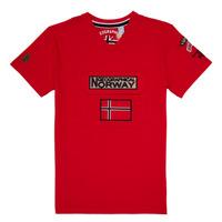 Oblečenie Chlapci Tričká s krátkym rukávom Geographical Norway JIRI Červená
