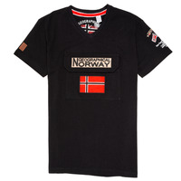 Oblečenie Chlapci Tričká s krátkym rukávom Geographical Norway JIRI Čierna