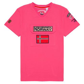 Oblečenie Chlapci Tričká s krátkym rukávom Geographical Norway JIRI Ružová