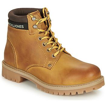 Topánky Chlapci Polokozačky Jack & Jones JFW STATTON LEATHER Svetlá hnedá medová