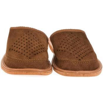 Topánky Muži Papuče John-C Pánske hnedé papuče MORTI hnedá