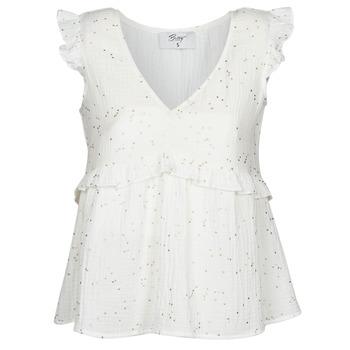 Oblečenie Ženy Blúzky Betty London MOUDINE Biela / Zlatá