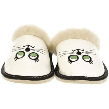 Topánky Ženy Papuče John-C Dámske biele papuče KITTY biela