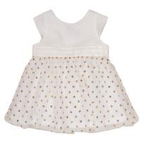 Oblečenie Dievčatá Krátke šaty Petit Bateau FAVORITE Biela / Zlatá
