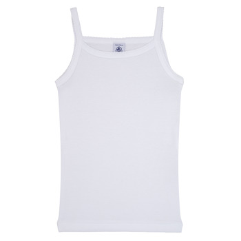 Oblečenie Dievčatá Tielka a tričká bez rukávov Petit Bateau  Biela