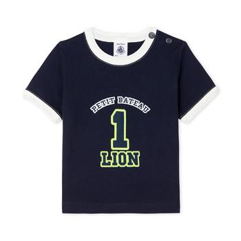 Oblečenie Chlapci Tričká s krátkym rukávom Petit Bateau FUDGE Modrá
