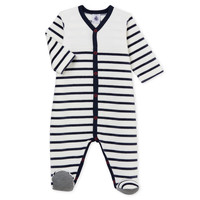Oblečenie Deti Pyžamá a nočné košele Petit Bateau FUT Biela / Modrá