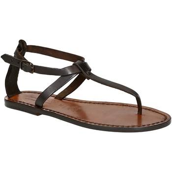 Topánky Ženy Sandále Gianluca - L'artigiano Del Cuoio 582 D MORO CUOIO Testa di Moro