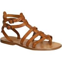 Topánky Ženy Sandále Gianluca - L'artigiano Del Cuoio 506 D CUOIO CUOIO Cuoio