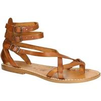 Topánky Ženy Sandále Gianluca - L'artigiano Del Cuoio 564 D CUOIO CUOIO Cuoio