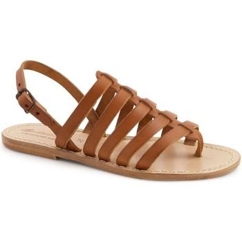 Topánky Ženy Sandále Gianluca - L'artigiano Del Cuoio 576 D CUOIO LGT-CUOIO Cuoio