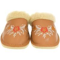 Topánky Ženy Papuče John-C Dámske hnedé papuče REA ťavia