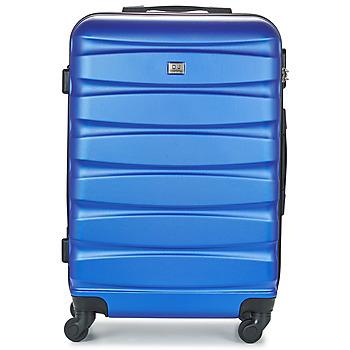 Tašky Pevné cestovné kufre David Jones CHAUVETTINI 72L Námornícka modrá